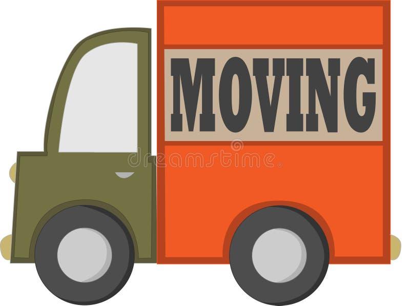 Caminhão movente dos desenhos animados ilustração stock