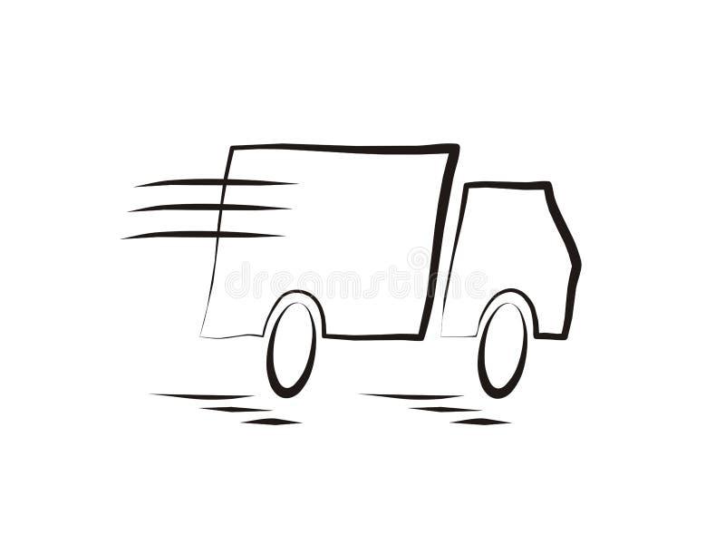 Caminhão movente rápido ilustração do vetor