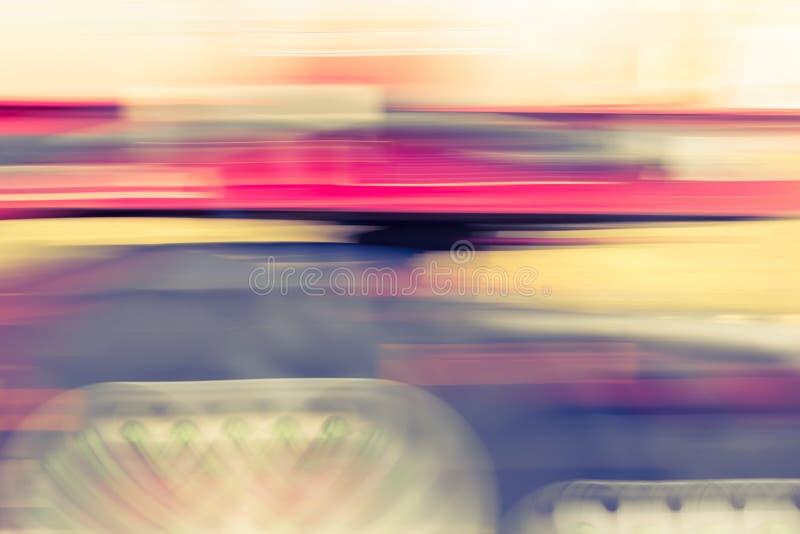 Caminhão no movimento imagens de stock