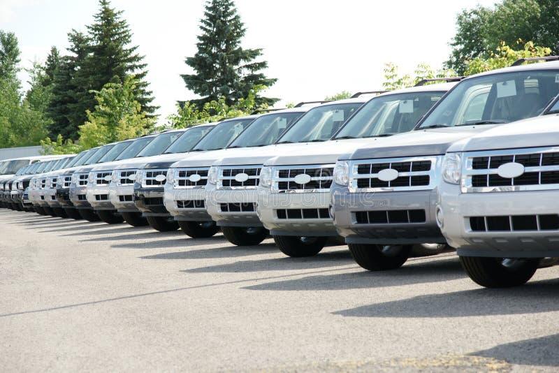 Caminhão no negócio imagem de stock