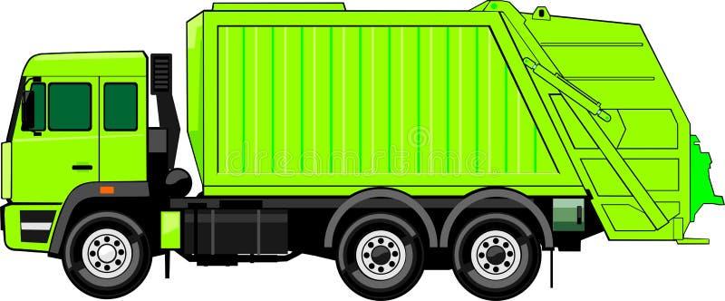 Caminhão para o lixo ilustração stock