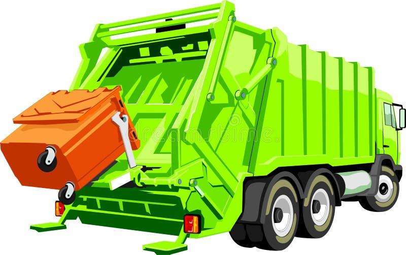 Caminhão para o lixo ilustração do vetor