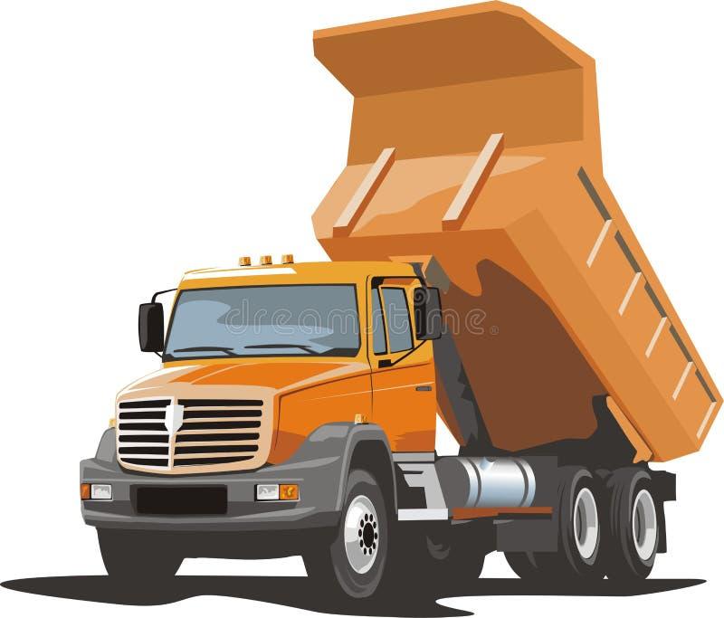 Caminhão para o material frouxo ilustração stock