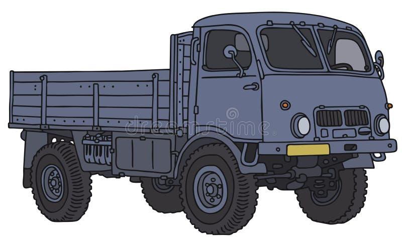 Caminhão pequeno velho do terreno ilustração do vetor
