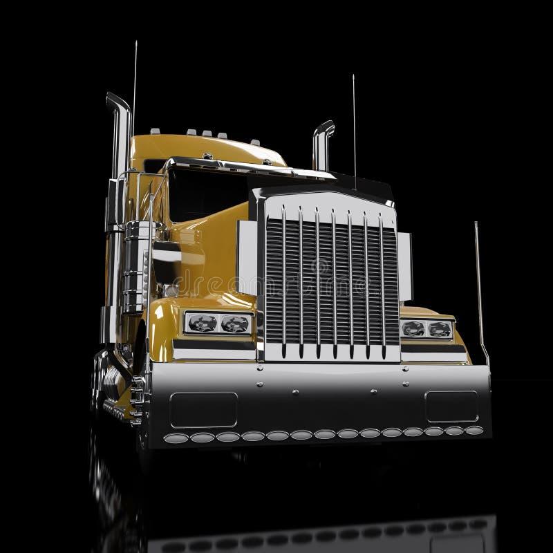 Caminhão Pesado Amarelo Foto de Stock