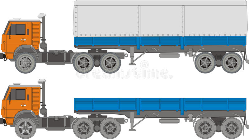 Caminhão pesado do vetor ilustração do vetor