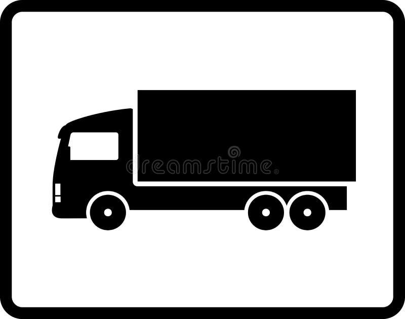 Caminhão preto do transporte ilustração stock