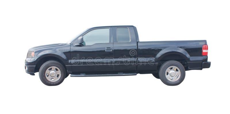 Caminhão prolongado preto do táxi fotos de stock royalty free