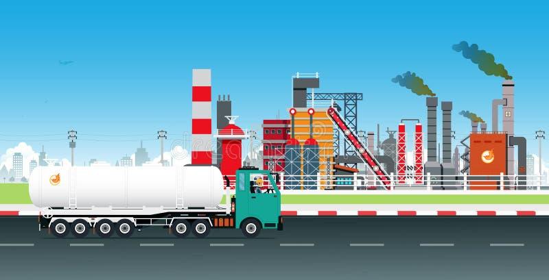 Caminhão químico perigoso ilustração royalty free