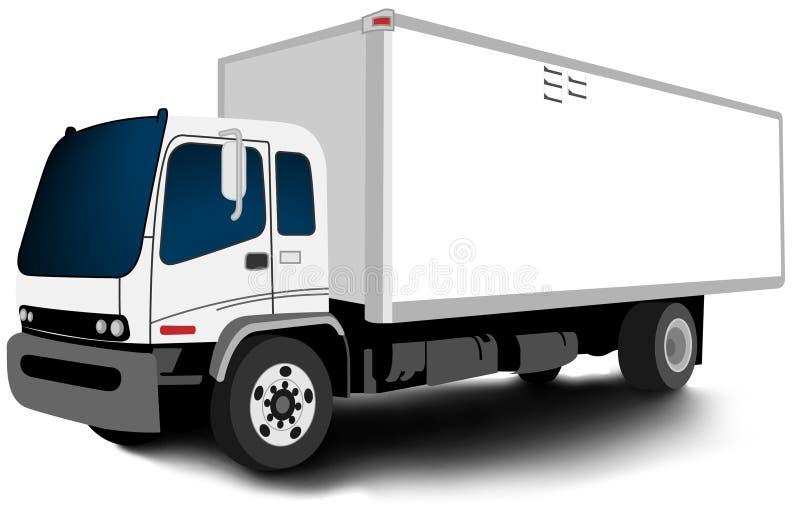 Caminhão relativo à promoção espalhado - espaço em branco ilustração stock
