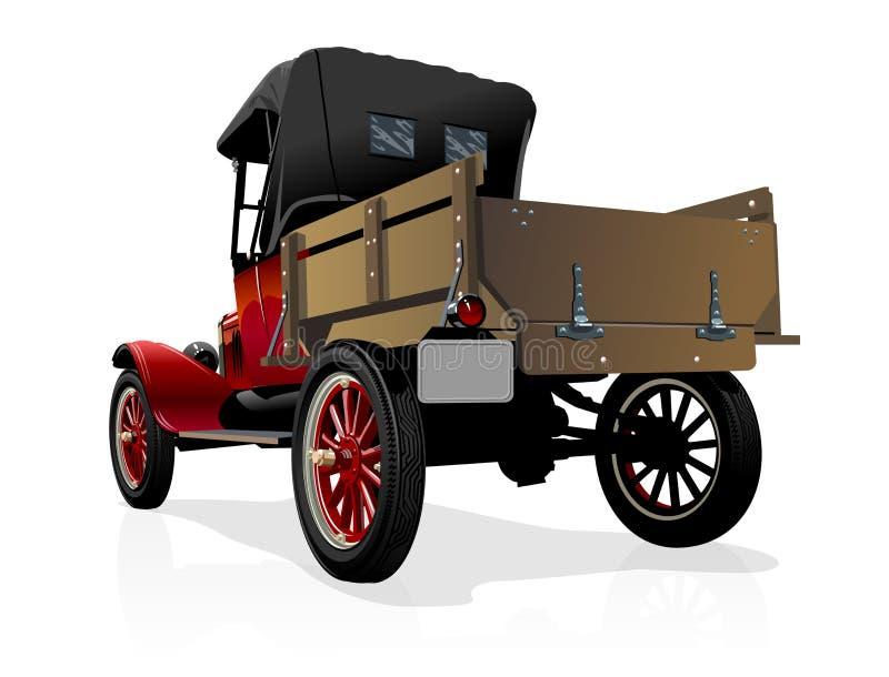 Caminhão retro do vetor ilustração do vetor