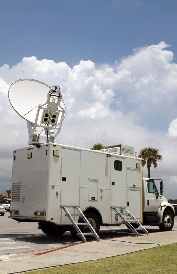 Caminhão satélite fotos de stock royalty free