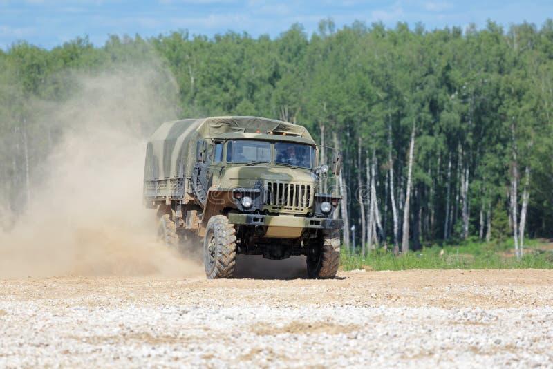 Caminhão Ural-43206 foto de stock