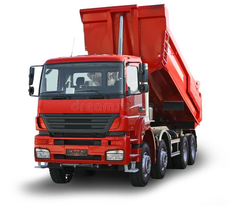 Caminhão vermelho isolado fotos de stock royalty free