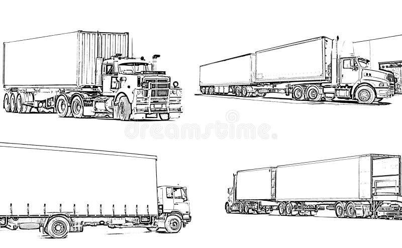 Caminhões ilustração royalty free