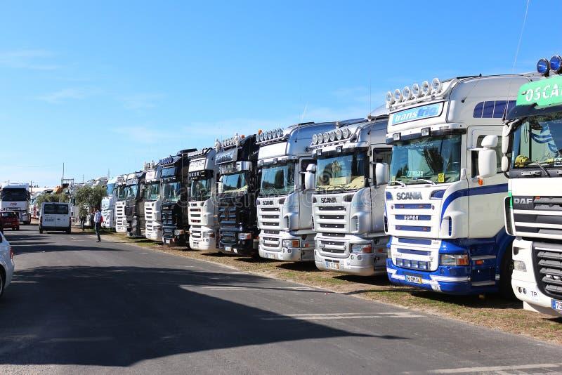 caminhões imagem de stock