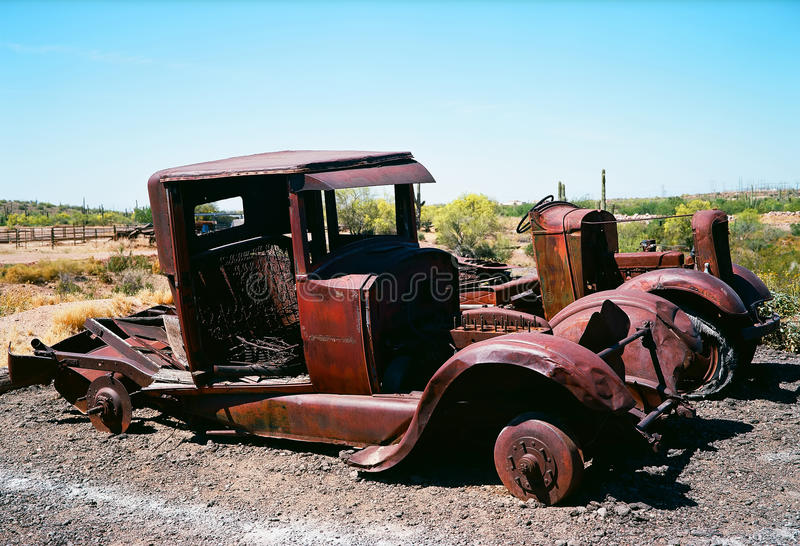 Caminhões abandonados Derelict foto de stock