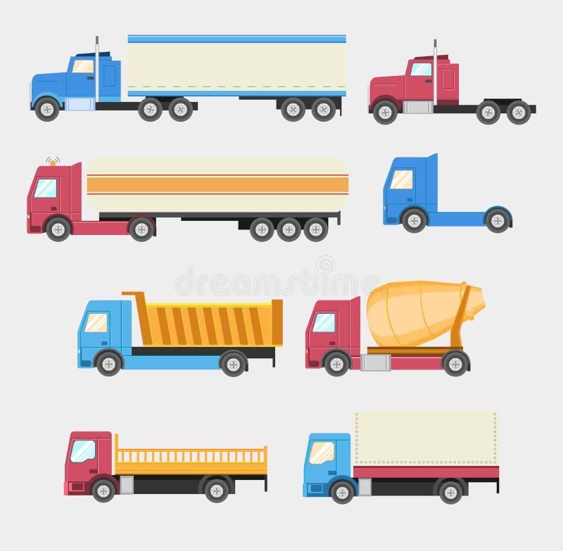 Caminhões ajustados ilustração royalty free