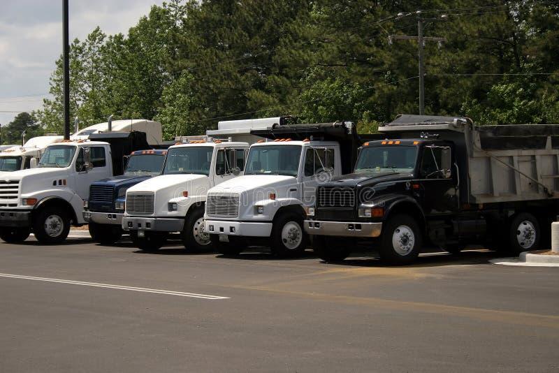 Caminhões de descarga fotografia de stock