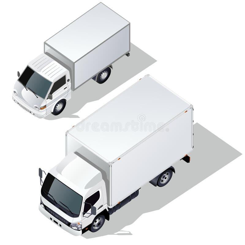 Caminhões de entrega do vetor ajustados ilustração royalty free