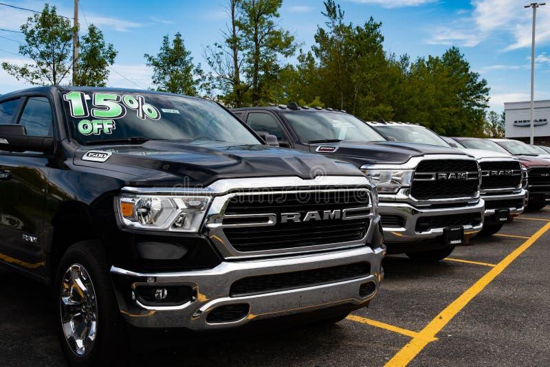 Caminhões do Dodge Ram fotos de stock