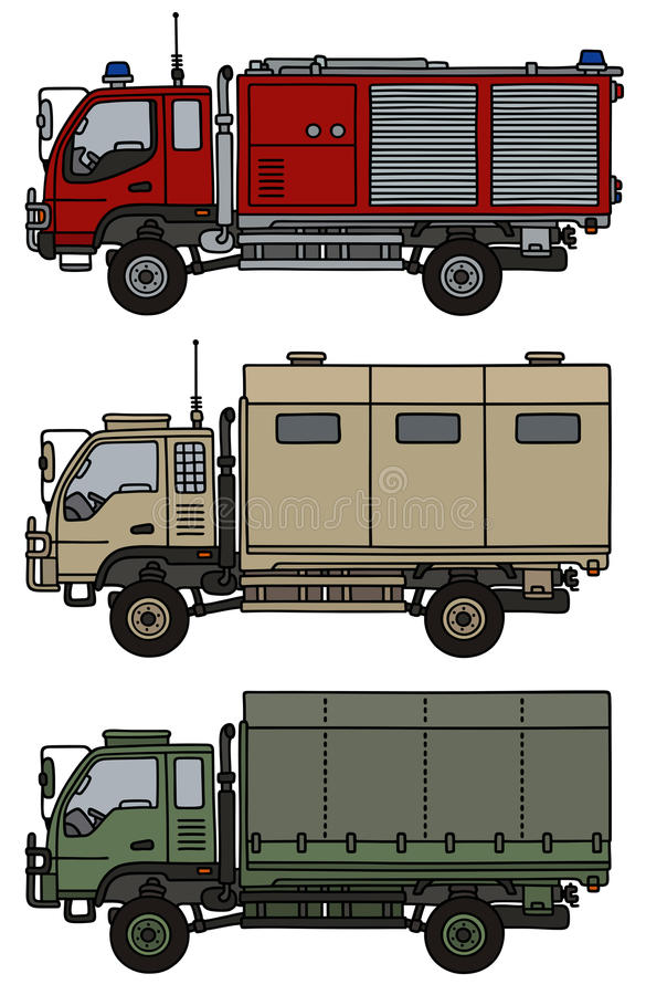 Caminhões pequenos do terreno ilustração royalty free