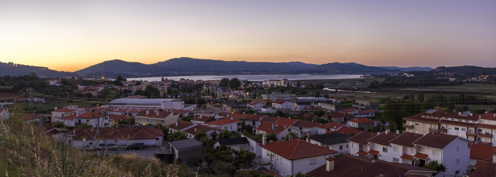 Caminha town overview stock photography