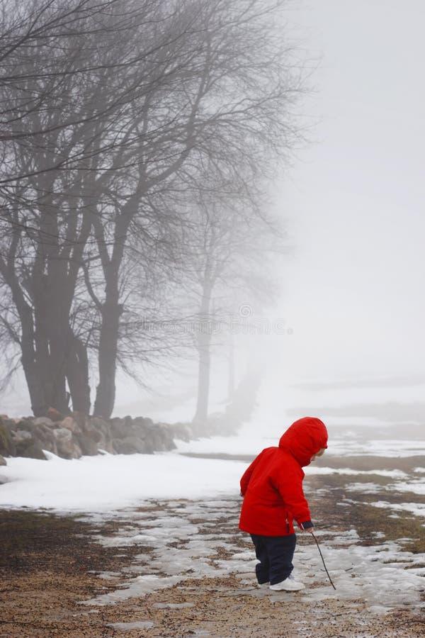 Caminhada atrasada do inverno fotos de stock