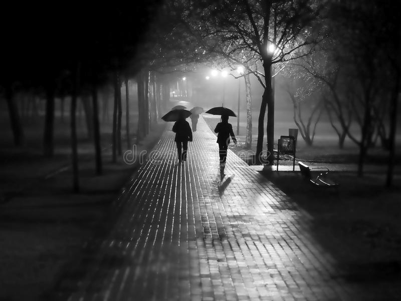 Caminhada da chuva imagem de stock royalty free