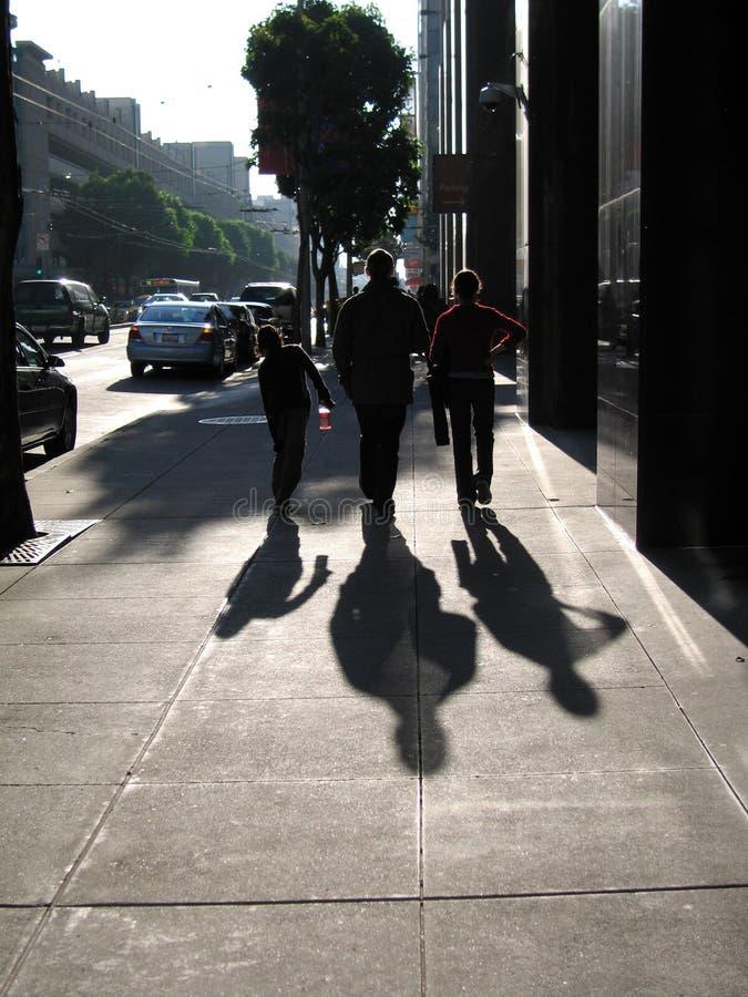 Caminhada da cidade imagens de stock royalty free