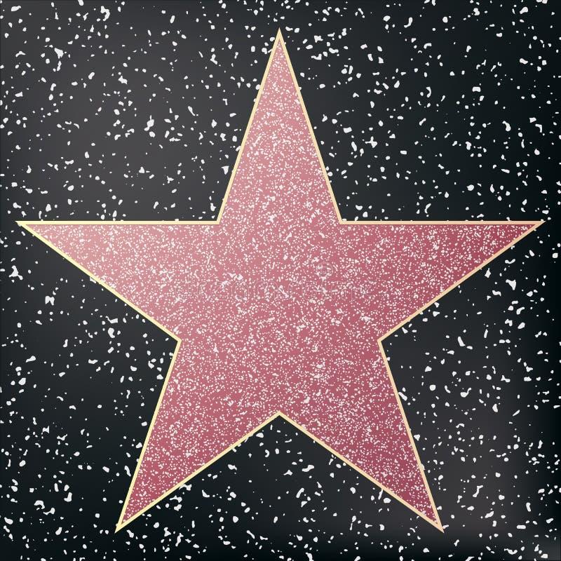 Caminhada da estrela da fama Estrela hollywood ilustração stock
