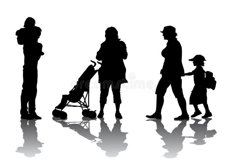 Caminhada da família ilustração do vetor