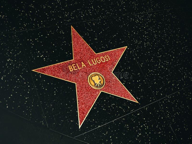 Caminhada da fama, Bela Lugosi ilustração do vetor