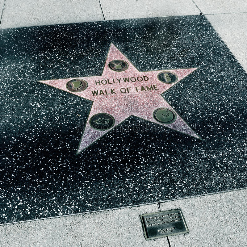 Caminhada da fama, Los Angeles de Hollywood, Estados Unidos foto de stock