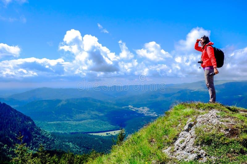 Caminhada da montanha imagens de stock
