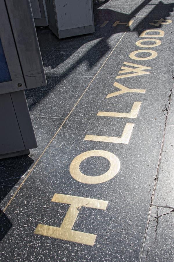 Caminhada de Hollywood da fama fotos de stock royalty free