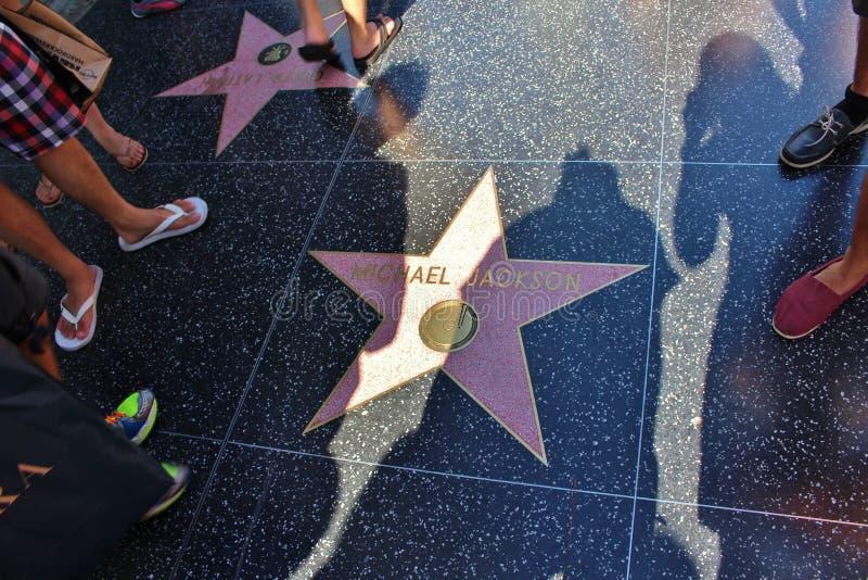 Caminhada de Hollywood da fama fotografia de stock royalty free