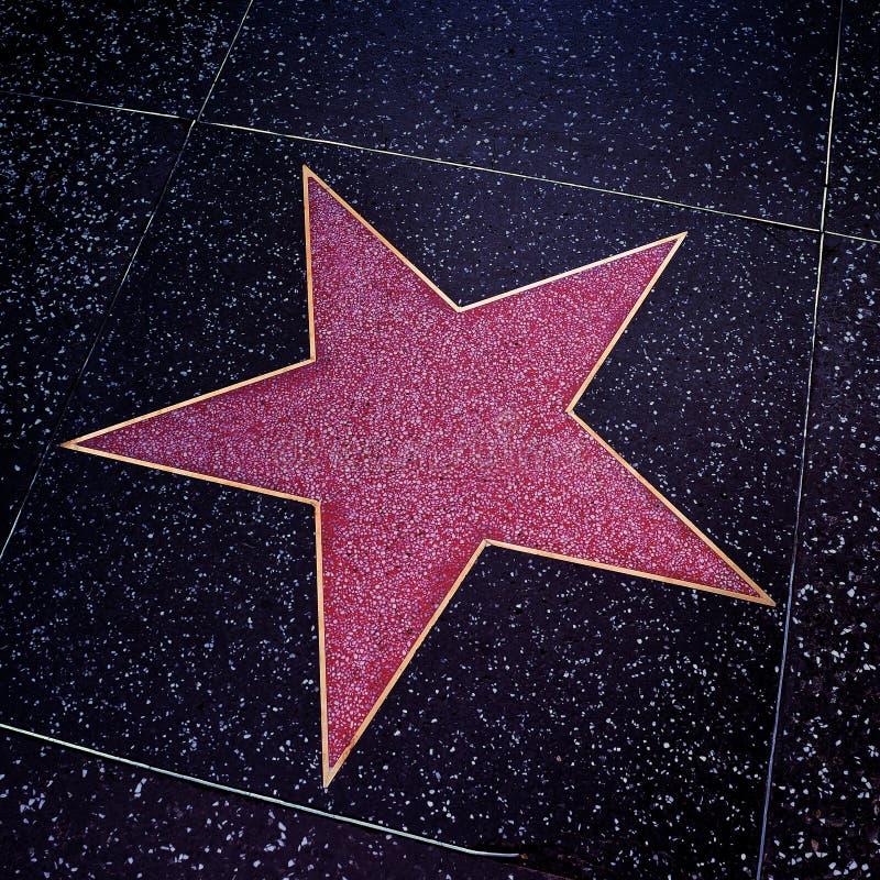 Caminhada de Hollywood da fama em Los Angeles, Estados Unidos imagens de stock
