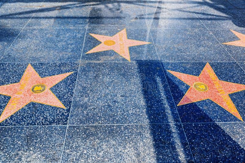 Caminhada de Hollywood da fama no bulevar de Hollywood fotos de stock royalty free