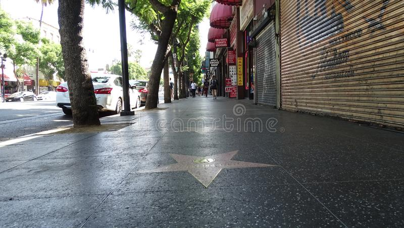 A caminhada de Hollywood da fama fotografia de stock royalty free