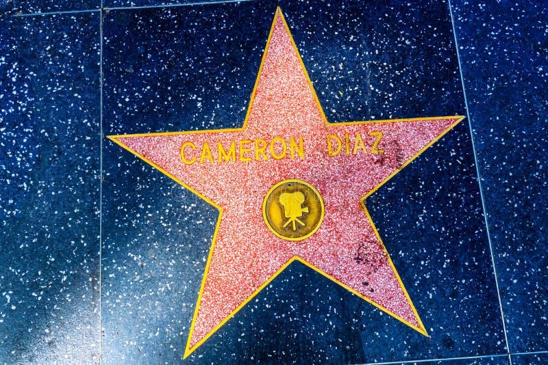 Caminhada de Hollywood da fama no bulevar de Hollywood fotografia de stock royalty free
