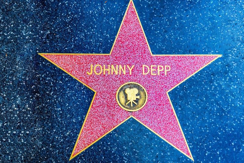 Caminhada de Hollywood da fama no bulevar de Hollywood imagem de stock royalty free