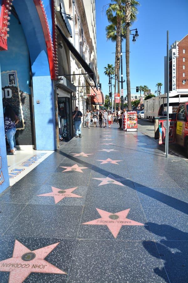 A caminhada de Hollywood da fama protagoniza em Los Angeles imagens de stock