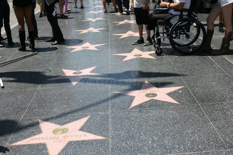 Caminhada de Hollywood de estrelas da fama foto de stock