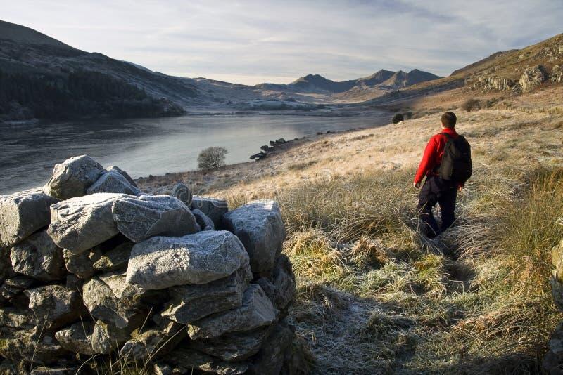 Caminhada de Wales imagens de stock