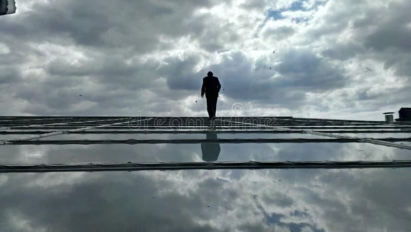 Caminhada do céu fotografia de stock