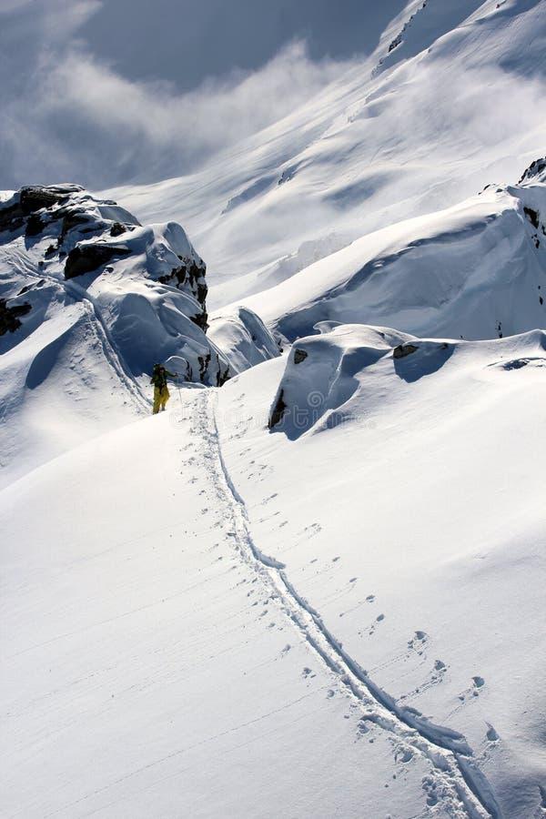 Caminhada do inverno fotos de stock