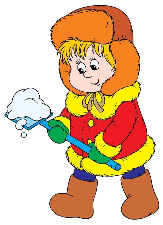 Caminhada do inverno (vetor) ilustração do vetor