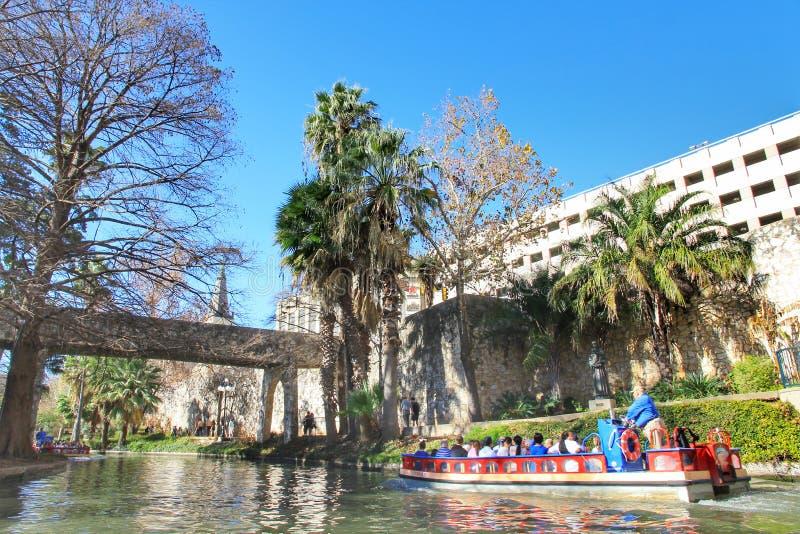Caminhada do rio em San Antonio, Texas fotografia de stock
