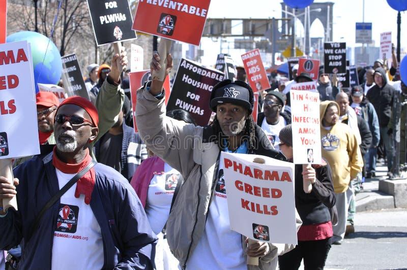 Caminhada do SIDA fotografia de stock royalty free